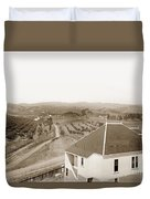View Of Foothill Orchards. This View Of Orchards In The Foothill Duvet Cover