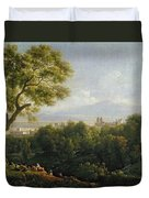View Of Frascati Duvet Cover