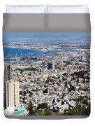 View Of Haifa Duvet Cover