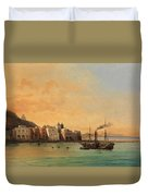 View Of Ischia From The Sea Duvet Cover