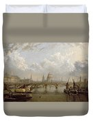 View Of London  Duvet Cover
