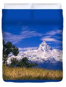 View Of Machhapuchhare From Sarangkot Duvet Cover