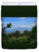 View Of Mauna Kahalewai West Maui From Keokea On The Western Slopes Of Haleakala Maui Hawaii Duvet Cover