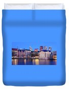 View Of Mauritshuis And The Hofvijver - The Hague Duvet Cover