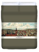 View Of Milwaukee 1898 Duvet Cover