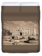 View Of Montgomery County Courthouse From The Southside In Sepia Duvet Cover