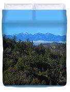View Of Mount Baldy From The San Bernardino Mountains Duvet Cover