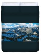 View Of Mountains, Table Mountain Duvet Cover
