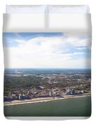View Of Myrtle Beach Duvet Cover