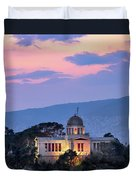 View Of National Observatory Of Athens In The Evening, Athens, G Duvet Cover