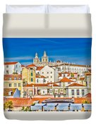 View Of Old Alfama Duvet Cover