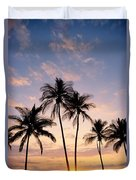 View Of Palms Duvet Cover