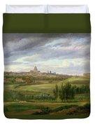 View Of Paris From Butte Aux Cailles Duvet Cover