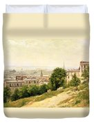 View Of Paris Duvet Cover