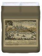 View Of Quebec City 1759 Duvet Cover