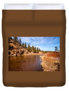 View Of River Around The Bend Duvet Cover