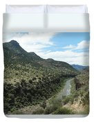 View Of Salt River Canyon Duvet Cover