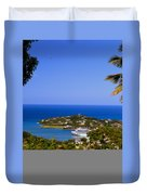 View Of St. Lucia Duvet Cover