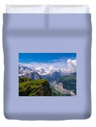 View Of The Swiss Alps Duvet Cover