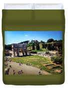 View Of The Arch Of Constantine From The Colosseum Duvet Cover