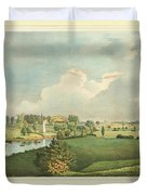 View Of The Battle Ground At Concord Mass Duvet Cover