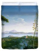 View Of The Bay Of Pozzuoli Duvet Cover