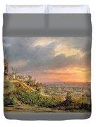 View Of The Butte Montmartre Duvet Cover by Louis Jacques Mande Daguerre