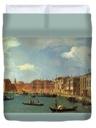 View Of The Canal Of Santa Chiara Duvet Cover