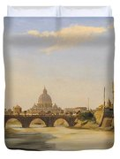 View Of The Castel Sant'angelo Duvet Cover