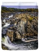 View Of The Great Falls Duvet Cover