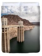 View Of The Hoover Dam Lake With Low Water Reserves Duvet Cover