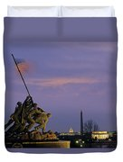 View Of The Iwo Jima Monument Duvet Cover