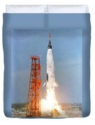 View Of The Liftoff Of Mercury-atlas 5 Duvet Cover