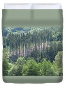 View Of The Mixed Forest Duvet Cover
