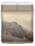 View Of The Mountains Of The Himalayas, Samuel Bourne, 1866 Duvet Cover