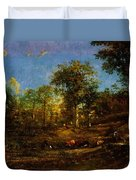 View Of The Pastures Of The Limousin 1835 Duvet Cover