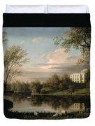 View Of The Pavlovsk Palace Duvet Cover by Carl Ferdinand von Kugelgen