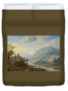 View Of The Rhine River Near Reineck Duvet Cover