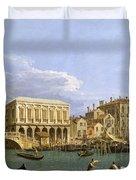 View Of The Riva Degli Schiavoni. Venice Duvet Cover