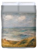 View Of The Sea Guernsey Duvet Cover by Pierre Auguste Renoir