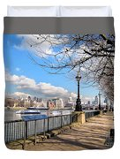 View Of The Thames Duvet Cover