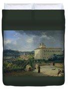 View Of The Villa Medici In Rome Duvet Cover