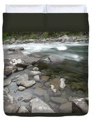 View Of The Wenatchee River Duvet Cover