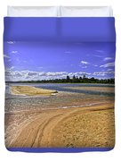 View Of Wollumboola Lake From Sand Dunes Duvet Cover
