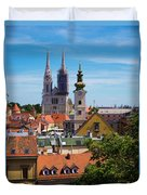 View Of Zagreb Duvet Cover