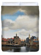 View On Delft Duvet Cover