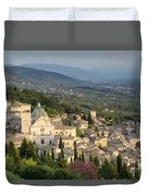 View Over Assisi Duvet Cover