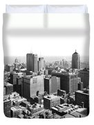 View Over Downtown Chicago Duvet Cover