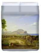 View Over Palermo Duvet Cover