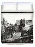 View Over Rooftops In Amsterdam  George Hendrik Breitner  C  1890    . 1910 Duvet Cover